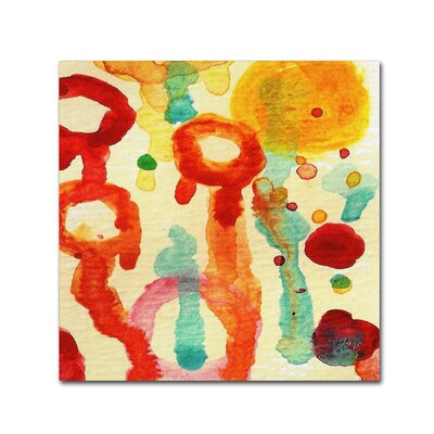 'Circle Encounters 7' by Amy Vangsgard Painting Print on Wrapped Canvas Size: 18
