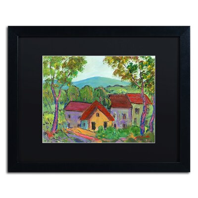 'Rainbow Home' by Manor Shadian Framed Painting Print Size: 16