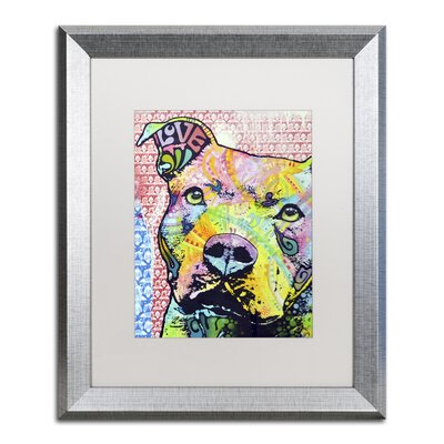 "Thouthful Pittbull II by Dean Russo Framed Painting Print Size: 20"" H x 16"" W x 0.5"" D ALI0261-S1620MF"