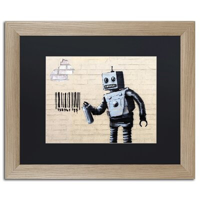 Robot by Banksy Framed Graphic Art ALI0811-T1620BMF