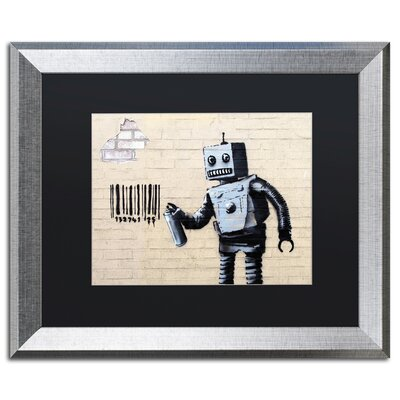 Robot by Banksy Framed Graphic Art ALI0811-S1620BMF
