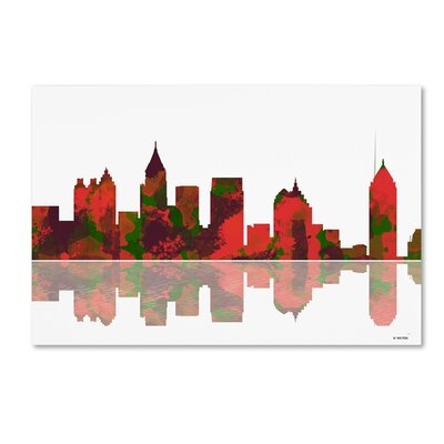 Atlanta Georgia Skyline II by Marlene Watson Graphic Art on Wrapped Canvas Size: 12