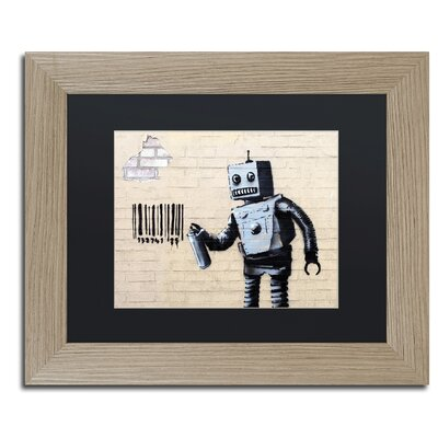 Robot by Banksy Framed Graphic Art ALI0811-T1114BMF