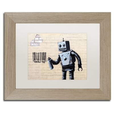 Robot by Banksy Framed Graphic Art ALI0811-T1114MF