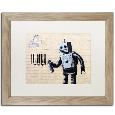 Robot by Banksy Framed Graphic Art ALI0811-T1620MF