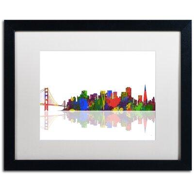 San Francisco California Skyline II by Marlene Watson Framed Graphic Art MW0105-B1620MF