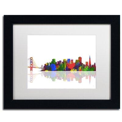 San Francisco California Skyline II by Marlene Watson Framed Graphic Art MW0105-B1114MF
