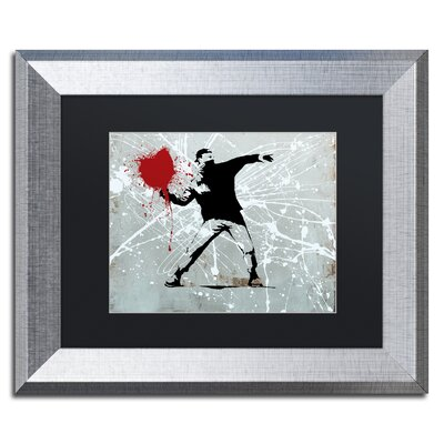 "Rage"" by Banksy Framed Graphic Art ALI1241-S1114BMF"