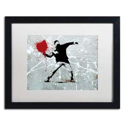 "Rage"" by Banksy Framed Graphic Art ALI1241-B1620MF"