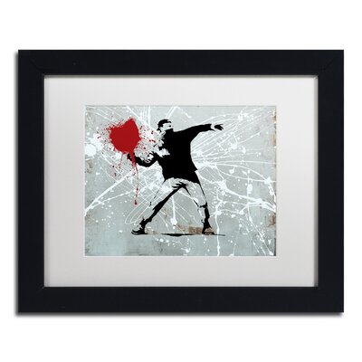 "Rage"" by Banksy Framed Graphic Art ALI1241-B1114MF"