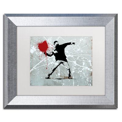"Rage"" by Banksy Framed Graphic Art ALI1241-S1114MF"