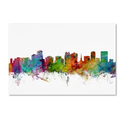 "Orlando Florida Skyline"" by Michael Tompsett Graphic Art on Wrapped Canvas MT0596-C1219GG"