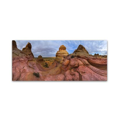'Pink Mountain' by Moises Levy Photographic Print on Wrapped Canvas Size: 8