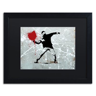 "Rage"" by Banksy Framed Graphic Art ALI1241-B1620BMF"