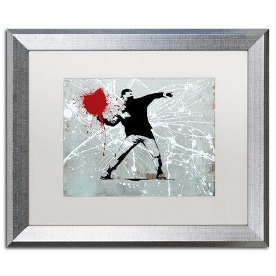 "Rage"" by Banksy Framed Graphic Art ALI1241-S1620MF"