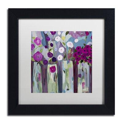 """Que Sera Sera"""" by Carrie Schmitt Framed Painting Print Size: 11"""" H x 11"""" W x 0.5"""" D ALI0789-B1111MF"""