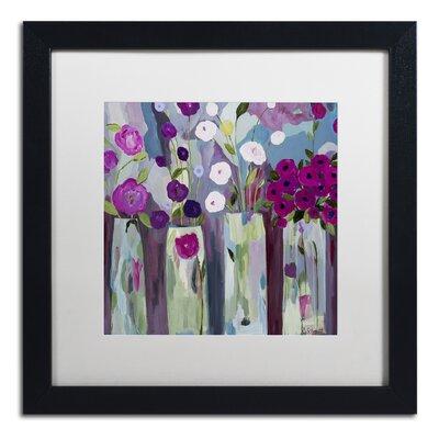 """Que Sera Sera"""" by Carrie Schmitt Framed Painting Print Size: 16"""" H x 16"""" W x 0.5"""" D ALI0789-B1616MF"""
