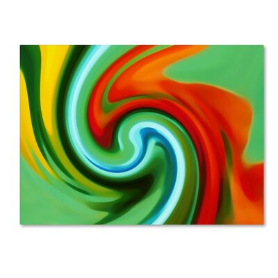 'Abstract Flower Unfurling 2' by Amy Vangsgard Giclée Graphic Art on Wrapped Canvas Size: 18