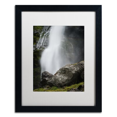 "Meditative Falls by Philippe Sainte-Laudy Framed Photographic Print Size: 20"" H x 16"" W x 0.5"" D, Frame Color: Birch"