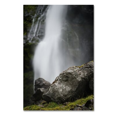 Meditative Falls by Philippe Sainte-Laudy Photographic Print on Wrapped Canvas
