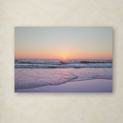 'Beach at Sunset' Photographic Print on Wrapped Canvas 5D43358EF82F42AABD0E498CD41D0F44