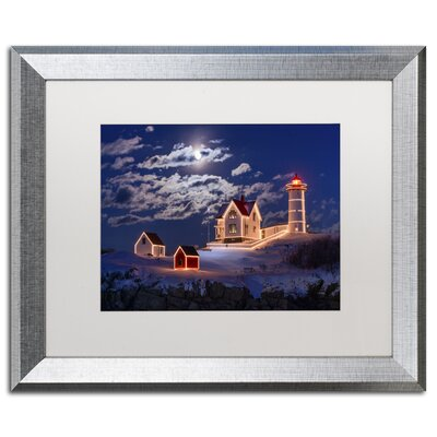 'Moon over Nubble' by Michael Blanchette Framed Photographic Print ALI2104-S1620MF
