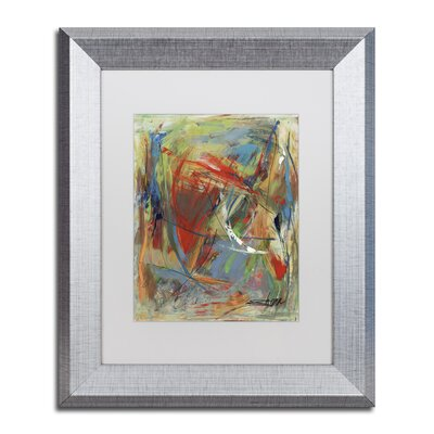 "Toy of a Cosmic Child"" by Shana Doumingez Framed Painting Print Size: 20"" H x 16"" W x 0.5"" D, Matte Color: White MA0806-S1620MF"