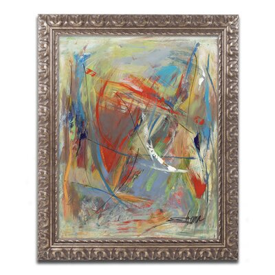 "Toy of a Cosmic Child"" by Shana Doumingez Framed Painting Print Size: 14"" H x 11"" W x 0.5"" D MA0806-G1114F"