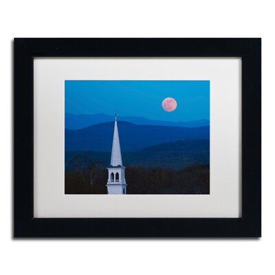 'Moon over Vermont' by Michael Blanchette Framed Photographic Print ALI3881-B1114MF
