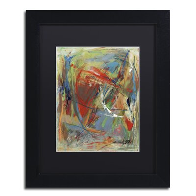 "Toy of a Cosmic Child"" by Shana Doumingez Framed Painting Print Size: 20"" H x 16"" W x 0.5"" D, Matte Color: Black MA0806-B1620BMF"