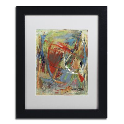 "Toy of a Cosmic Child"" by Shana Doumingez Framed Painting Print Size: 20"" H x 16"" W x 0.5"" D, Matte Color: White MA0806-B1620MF"