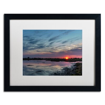 "Boundary Bay Sunset 2"" by Pierre Leclerc Framed Photographic Print Size: 11"" H x 14"" W x 0.5"" D PL0177-B1114MF"