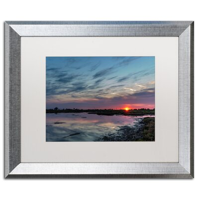 "Boundary Bay Sunset 2"" by Pierre Leclerc Framed Photographic Print Size: 11"" H x 14"" W x 0.5"" D PL0177-S1114MF"