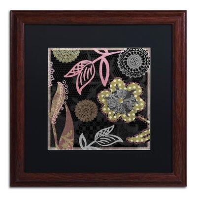 "'Daisy Cartwheels II' Framed Graphic Art Size: 16"" H x 16"" W x 0.5"" D, Mat Color: Black ALI4516-W1616BMF"