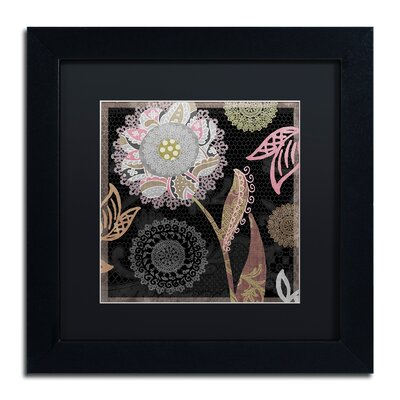 "'Daisy Cartwheels I' Framed Graphic Art Size: 16"" H x 16"" W x 0.5"" D, Mat Color: Black ALI4515-B1616BMF"