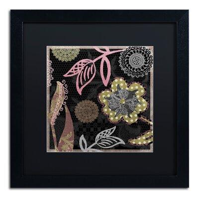 "'Daisy Cartwheels II' Framed Graphic Art Mat Color: Black, Size: 16"" H x 16"" W x 0.5"" D ALI4516-B1616BMF"