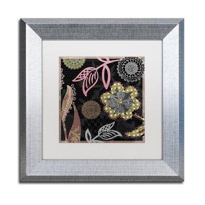 "'Daisy Cartwheels II' Framed Graphic Art Size: 11"" H x 11"" W x 0.5"" D, Mat Color: White ALI4516-S1111MF"