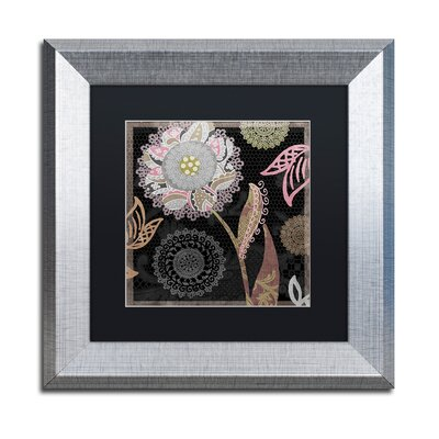 "'Daisy Cartwheels I' Framed Graphic Art Size: 11"" H x 11"" W x 0.5"" D, Mat Color: Black ALI4515-S1111BMF"