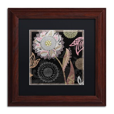 "'Daisy Cartwheels I' Framed Graphic Art Size: 11"" H x 11"" W x 0.5"" D, Mat Color: Black ALI4515-W1111BMF"