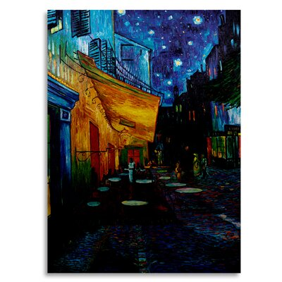 'Cafe Terrace' by Vincent van Gogh Painting Print on Metal M211-1622M