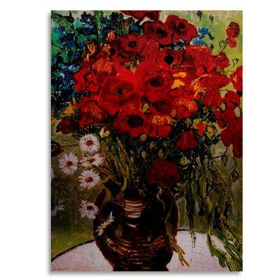 'Daisies & Poppies' by Vincent van Gogh Painting Print on Metal M223-1622M