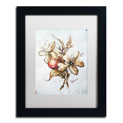 "'Coffee Flower and Bean' by Wendra Framed Painting Print Size: 14"" H x 11"" W x 0.5"" D, Matte Color: White WL034-B1114MF"