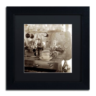 "'Tuscany Caffe I' Framed Photographic Print Size: 11"" H x 11"" W x 0.5"" D, Mat Color: Black ALI5150-B1111BMF"