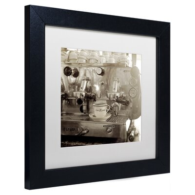 "'Tuscany Caffe I' Framed Photographic Print Size: 11"" H x 11"" W x 0.5"" D, Mat Color: White ALI5150-B1111MF"