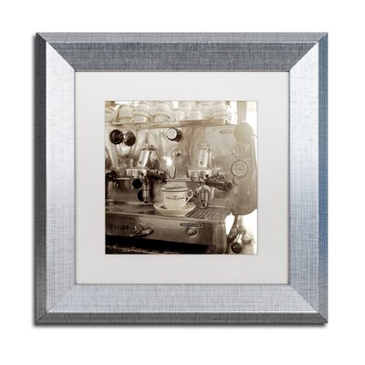 "'Tuscany Caffe I' Framed Photographic Print Size: 11"" H x 11"" W x 0.5"" D, Mat Color: White ALI5150-S1111MF"