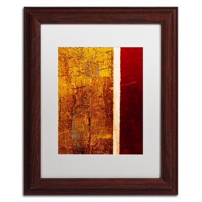 'Gold Flakes' Framed Painting Print CDO0183-W1114MF