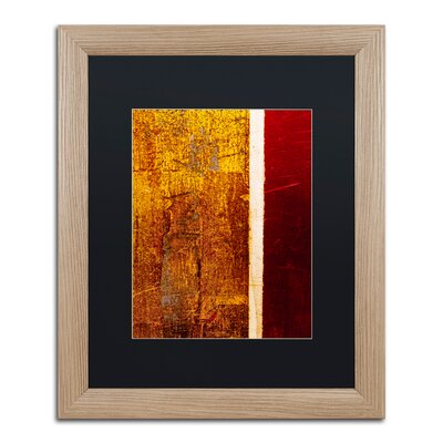 'Gold Flakes' Framed Painting Print CDO0183-T1620BMF