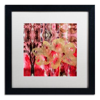 'Daisy Abstract' Framed Painting Print ALI5696-B1616MF