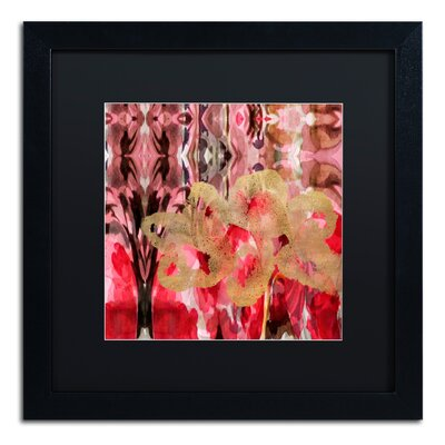 'Daisy Abstract' Framed Painting Print ALI5696-B1616BMF