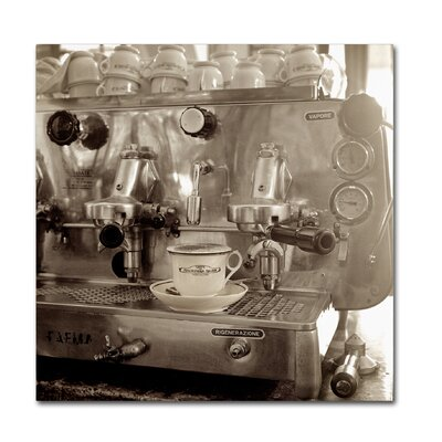 "'Tuscany Caffe I' Photographic Print on Wrapped Canvas Size: 35"" H x 35"" W x 2"" D ALI5150-C3535GG"